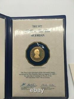1977 Jordan 25 Dinar GOLD Proof Coin 15 grams 916/1000 FINE GOLD
