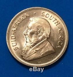 1977 Krugerrand 1 Oz Gold. 999 Fine Gold AU Fyngoud 1Troy Ounce Gold No Reserve