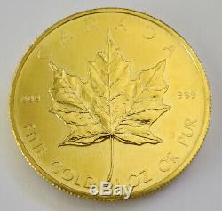 1980 Canada $50 Gold Maple Leaf 1 oz. 999 Fine