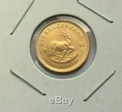 1981 Krugerrand South African 1/10 Oz Fine Gold Coin