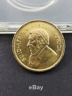 1982 South Africa 1/4 Krugerrand gold coin 1/4 oz. Fine gold