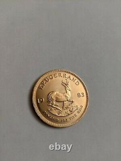1983 South Africa 1 Oz. Fine Gold Krugerrand Coin