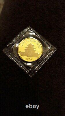 1985 1/10 OZ GOLD CHINA PANDA RARE. 999 FINE SEALED UNCIRCULATED COIN! 10 Yuan