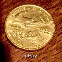 1986 American Eagle $10 1/4 Oz. Fine Gold Bullion Coin Uncirculated