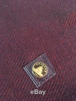 1986 China 1/20th oz 5 yuan Gold Panda Coin. 9999 Fine Gold, Mint Sealed