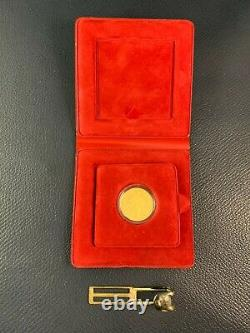 1986 Netherlands Proof Gold Ducat Coin. 983 Fine 3.494g in Case