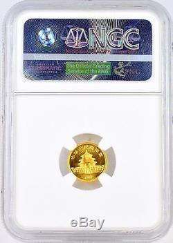 1987S China 5 Yuan Panda 5Y 1/20 oz. 999 Fine Gold Coin NGC Graded MS69