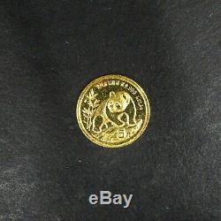 1990 5 Yuan Gold Panda 1/20 Oz Fine. 999 GEM BU RG794