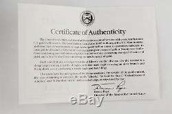 1990 P $5 1/10 Oz Fine GOLD AMERICAN EAGLE PROOF COIN + COA & OGP