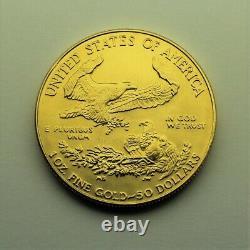 1991 1 oz. Fine gold American Gold Eagle $50 coin SUPERB BRILLIANT UNCIRCULATED
