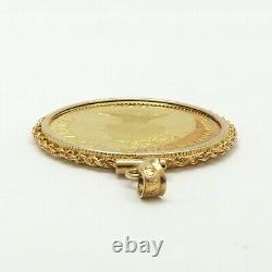 1992 Bahamas Flamingo 25 Twenty Five Dollars 14k Gold Coin Charm Pendant