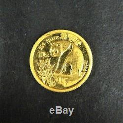1993 10 Yuan Gold Panda 1/10oz Fine Large Date RG939