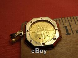 1995 $1 Dollar Canada Canadian Maple Leaf Fine Gold Coin 1/20 oz Pendant 18K