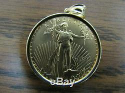 1997 1oz. Fine Gold $50 Liberty Eagle Gold Coin With 14k Bezel