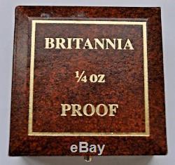 1997 Britannia ¼ Oz. Fine Gold Proof £25, From Elizabeth Ii, Coin Cased With Coa