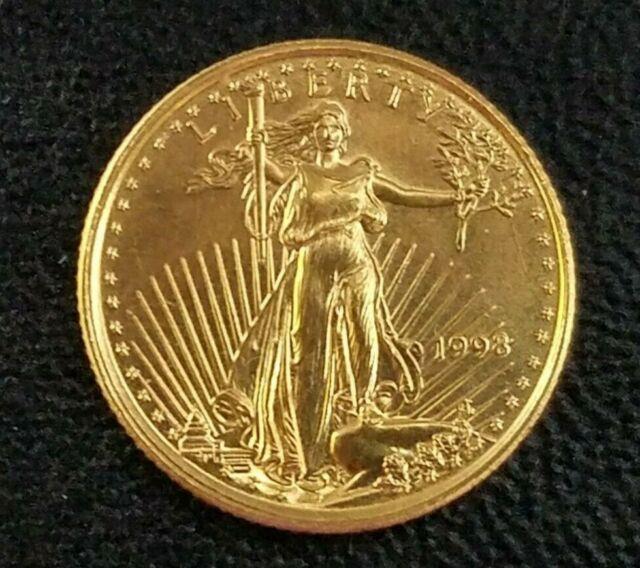 1998 1/10 Oz Fine Gold $5 Us American Eagle Coin