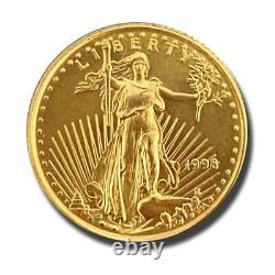 1998 American Eagle Liberty One Tenth Ounce 1/10 $5 Dollar 999 Fine