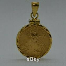 1999 1/10 Oz. Fine Gold Liberty $5 Coin 14k necklace bezel