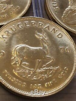 1oz Fine Gold South African Krugerrand Coin 1976 100% Genuine Solid Gold Invest
