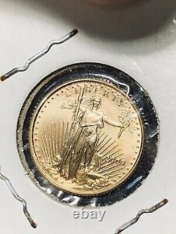 2000 5 $ gold coin. 10 oz fine gold 2000