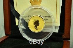 2001 Canada $10 Maple Leaf Hologram 1/4 Oz. 9999 Fine Gold -limited Edition Ogp