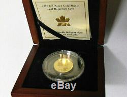 2001 Canada Gold Maple Leaf Hologram Coin 1/4 oz. 9999 Fine 10 Dollars OGP