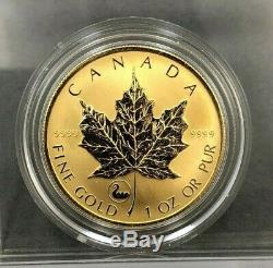 2001 Viking Privy 1oz. 9999 Fine Gold Canada Maple Leaf Gold Coin LOW MINTAGE