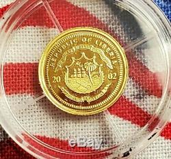 2002 CH BU Abraham Lincoln GOLD $25 999 Fine Pure Solid Gold Coin Proof MS++++