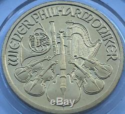 2002 Philharmonic 1/10 oz. 9999 Fine Gold 24K 10 Euro UNC Austria