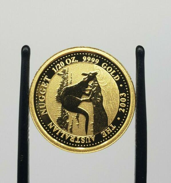 2003 1/20 Oz Australian Nugget Bullion Coin Kangaroo Australia 24k 999 Fine Pure