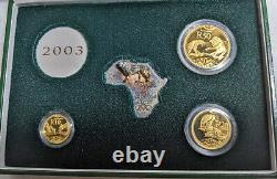 2003 Natura 3 Coin Gold Set. 9999 Fine Wild Cats of Africa The Lion 0.85oz