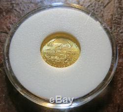 2005 American Gold Eagle 1/10 oz $5 BU Fine Gold
