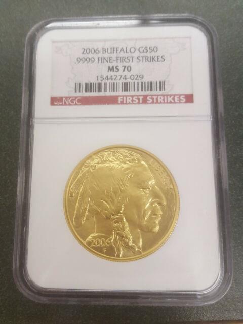 2006 American Gold Buffalo 1 Oz $50 Ngc Ms70 First Strike. 9999 Fine