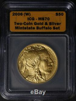 2006 Buffalo Gold $50.9999 Fine ICG MS70 Superb Eye Appeal