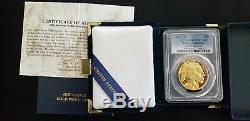 2006-W $50 American Buffalo. 9999 Fine Gold, PCGS PR69DCAM (Proof) withMint Box