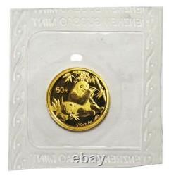 2007 50 Yuan Gold Chinese Panda. 999 Fine 1/10 oz. BU Sealed