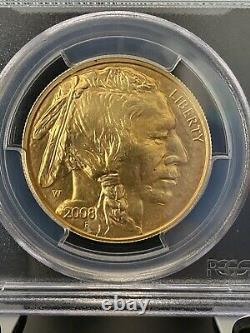 2008-W $50 American Buffalo. 9999 Fine Gold, PCGS MS 69 VERY RARE