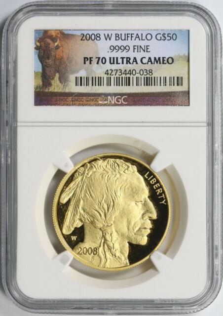 2008-w $50 Gold Buffalo. 9999 Fine Ngc Pf70ucam