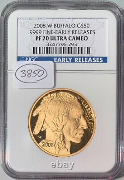 2008-W Buffalo G$50 1 oz. 999 Fine Gold Early Releases NGC PF-70 Ultra Cameo