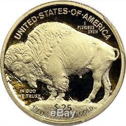 2008-W Buffalo Gold $25 Half-Ounce PR 70 DCAM PCGS. 9999 Fine Fraser Signature