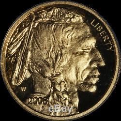 2008-W Buffalo Gold $5.9999 Fine ANACS PR70 Deep Cameo Blue Label STOCK