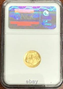2008-W Gold $5 American Buffalo. 9999 Fine 1/10th oz NGC MS-69 Rare US Coin 4008