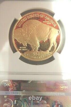 2008 W Proof G$50 Buffalo. 9999 Fine NGC PF70 Ultra Cameo Box and COA