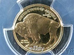 2008-w American Gold Buffalo $5 1/10 Oz. 9999 Fine Gold Pcgs Pr 70 Dcam