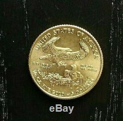 2009 American Eagle $5 Dollar 1/10 Oz. 999 Fine Gold
