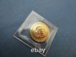 2009 Canada 1/10 Oz Gold Maple Leaf Coin 24 K Fine Gold Uncirculated Sealed