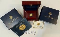 2009 Ultra High Relief $20 Double Eagle. 9999 Fine Gold 1 OZ Coin Box Set