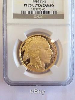 2009 W Buffalo G$50.9999 Fine Ngc Pf 70 Ultra Cameo 3573776-001 Free Shipping