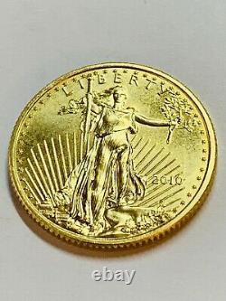 2010 $10 Gold American Eagle 1/4 oz. Fine Gold BU in Air-Tite Capsule