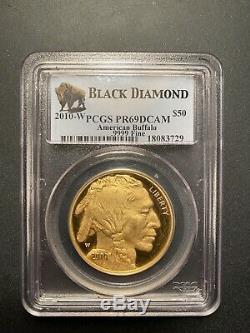 2010-W $50 American Buffalo. 9999 Fine Gold PCGS PR69DCAM